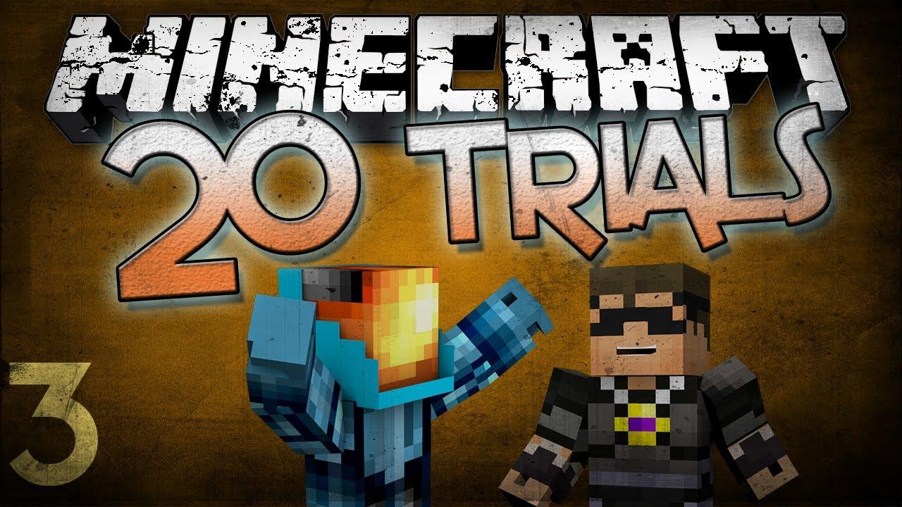 minecraft 20 trials w skydoesminecraft part 3 youtube