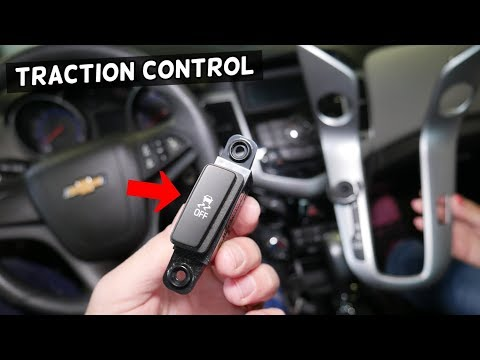 CHEVROLET CRUZE TRACTION CONTROL SWITCH REMOVAL REPLACEMENT. CHEVY CRUZE