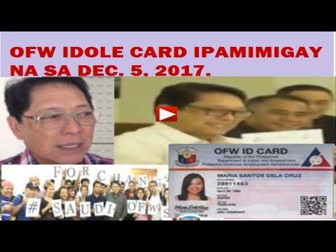 IDOLE CARD IPAMIMIGAY NA SA DECEMBER 5, 2017. HANDOG PAMASKO NI LABOR SEC. BELLO.