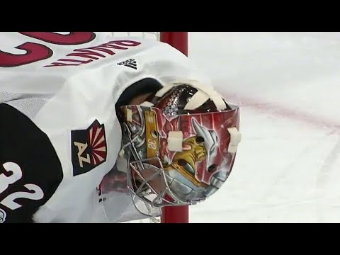 Raanta pulled after Golden Knights score third goal of the first period