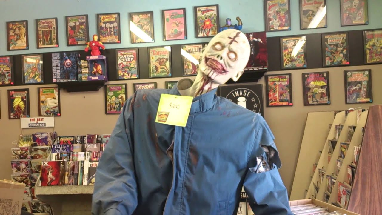 rotating ghoul animated halloween prop-from halloween outlet - youtube