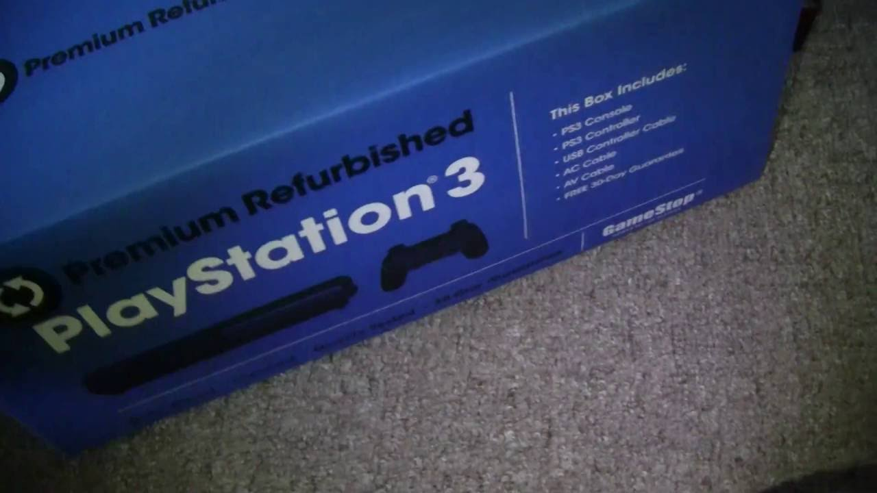 Playstation 3 80GB Unboxing (Gamestop Refurbished) - YouTubeGamestop