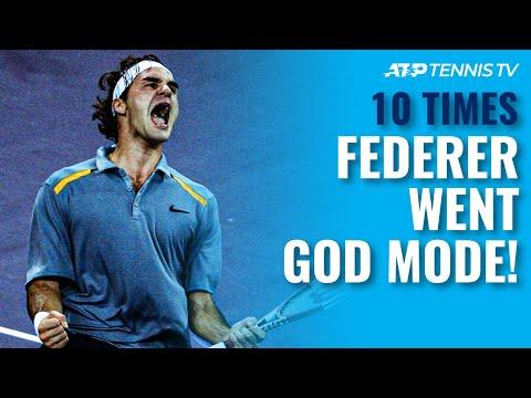 10 Times Roger Federer Went GOD MODE