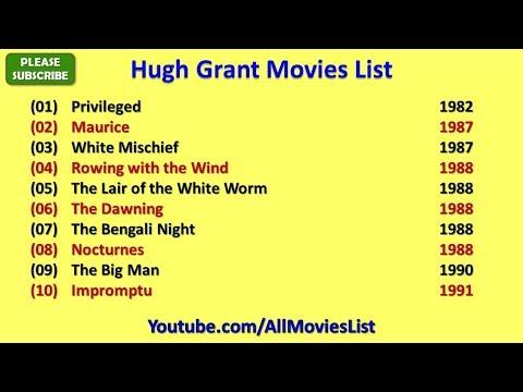 Hugh Grant Movies List