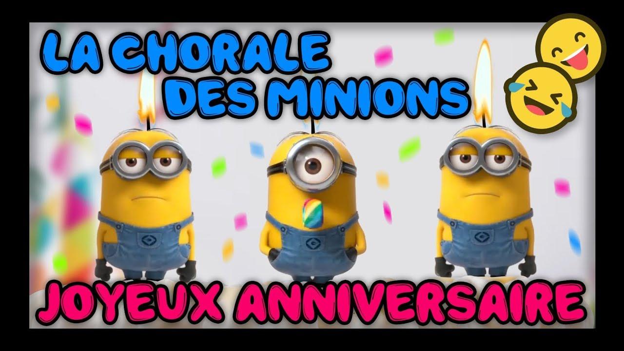 Joyeux Anniversaire La Chorale Des Minions Youtube