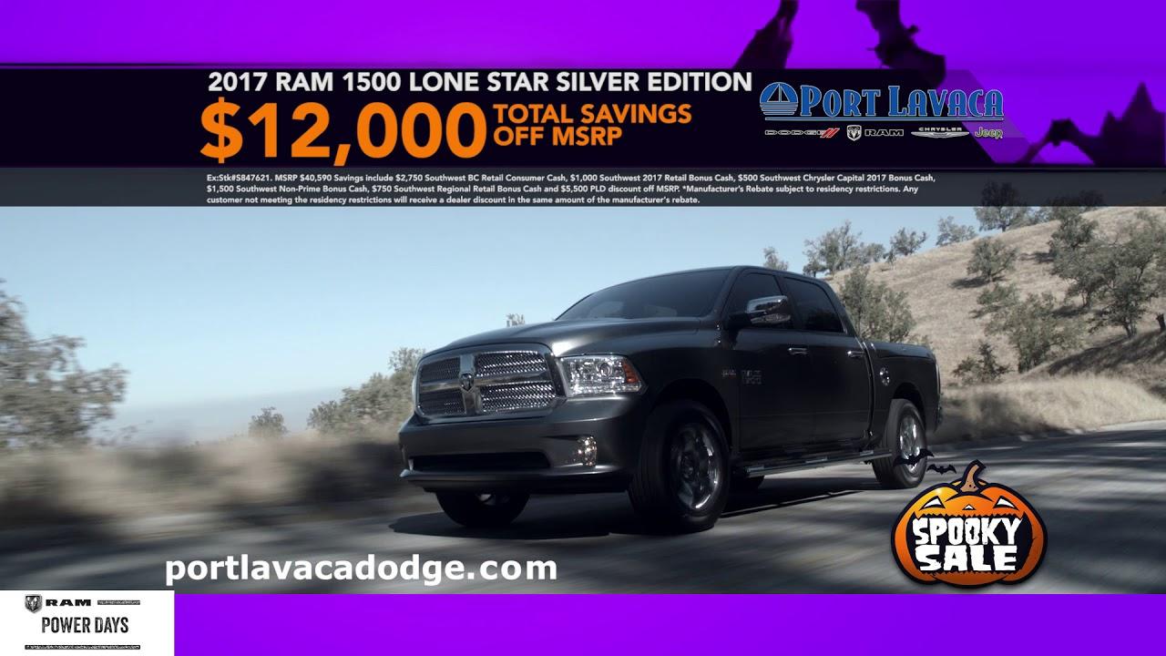 Port Lavaca Dodge >> Port Lavaca Dodge Spooky Sale Oct 2017 Youtube