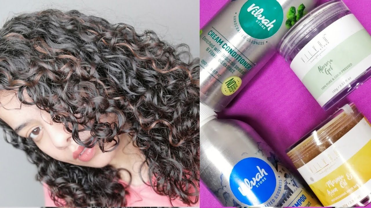 ONE INDIAN BRAND   VILVAH   CURLY/ WAVY/ FRIZZY HAIR ROUTINE IN BUDGET    DEMO /Review