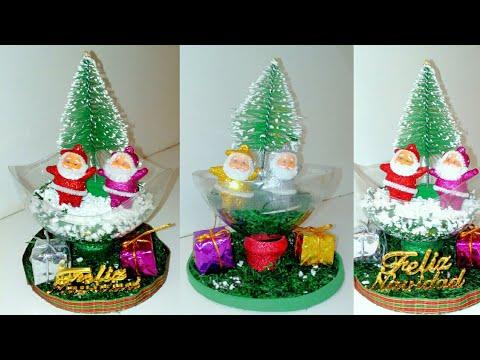 Manualidades navide as con material reciclado - Decoraciones navidenas manualidades ...