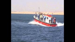 قناة السويس الجديدة : لحظة دوران موكب محلب فى مياه القناة والغاء زيارة الكراكة مشهور