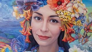 Женский портрет маслом в фэнтези образе. Female oil portrait, fantasy style.