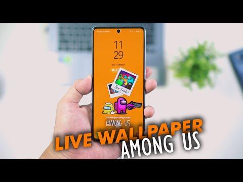 Cara Membuat Live Wallpaper Among Us Android Lockscreen Wallpaper Among Us Youtube