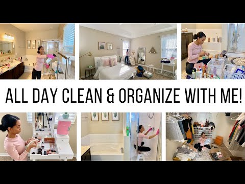 ALL DAY CLEAN, ORGANIZE & DECLUTTER WITH ME // Jessica Tull Cleaning Motivation