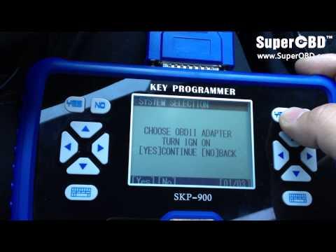 Program a KIA smart key by using SKP-900 key programmer