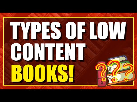 Different Types Of Low Content Books You Can Create For Passive Income