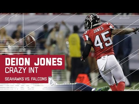 Crazy Deflection Interception for Deion Jones! | Seahawks vs. Falcons | NFL Divisional Highlights