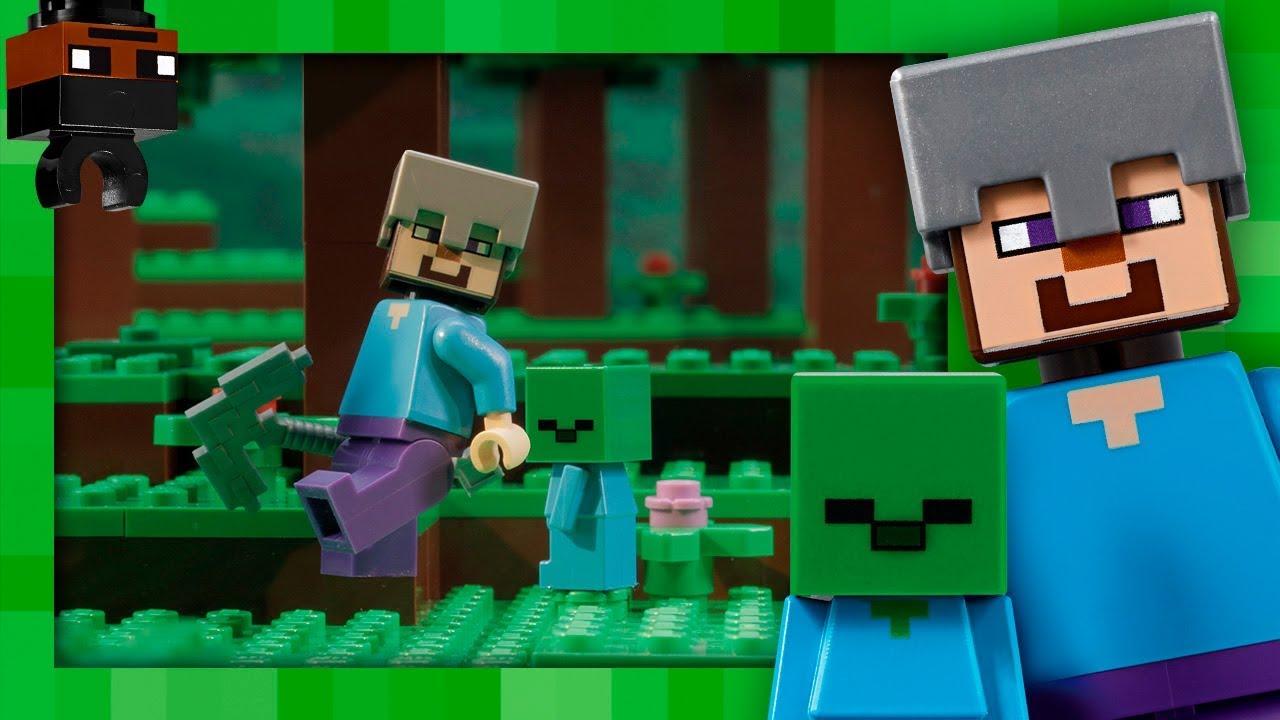 The Zombie Cave LEGO Minecraft Stop Motion YouTube - Minecraft die grobten hauser