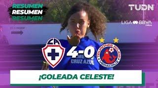 Resumen y goles | Cruz Azul 4 - 0 Veracruz | Liga Mx femenil - AP 19 - J 14 | TUDN