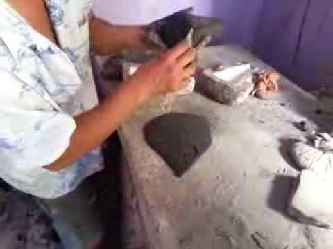 C mo hacer artesan as de barro moldeado 2 elaboraci n - Como limpiar suelos de barro ...