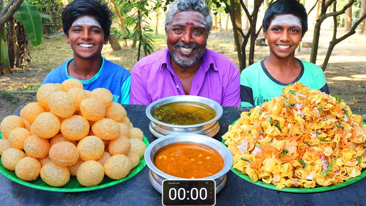 PANI PURI vs MASALA PURI EATING CHALLENGE | STREET FOOD EATING COMPETITION | FOODIES GOLGAPPA EATING