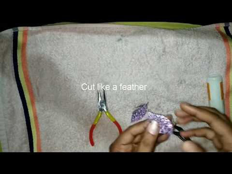 How to make feather earrings by gayatri
