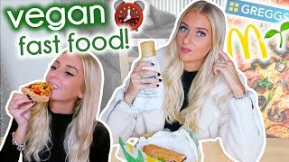 I only ate VEGAN FAST FOOD for 24 HOURS!!