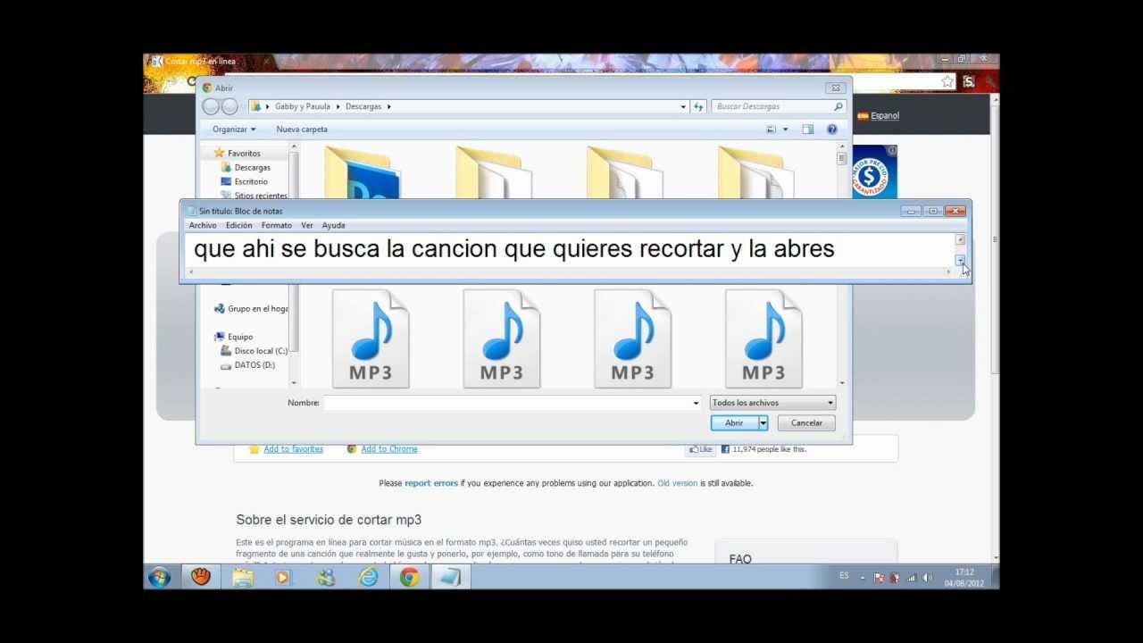 Como Cortar Una Cancion Sin Programas Youtube