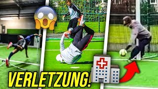 DIE KRASSESTEN UNFÄLLE & VERLETZUNGEN IN FUßBALL CHALLENGES!