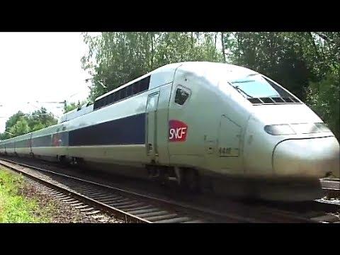 TGV train - treni velocissimi 2013 in: transito, sorpasso, incrocio, partenza, arrivo (video)