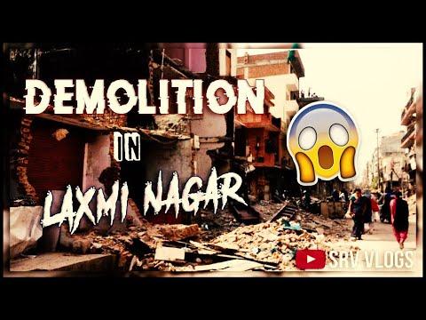 Demolition in Laxmi Nagar | Puri market khatam | Tod fod |