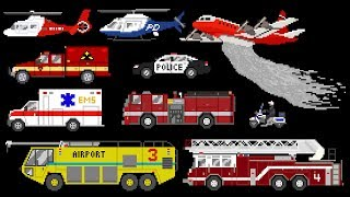 Emergency Vehicles - Book Version - Rescue Trucks: Fire, Police & Ambulance - The Kids' Picture Show