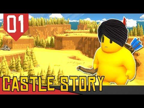 NOVO MAPA DO DESERTO! - Castle Story Deserto #01 [Série Gameplay Português PT-BR]