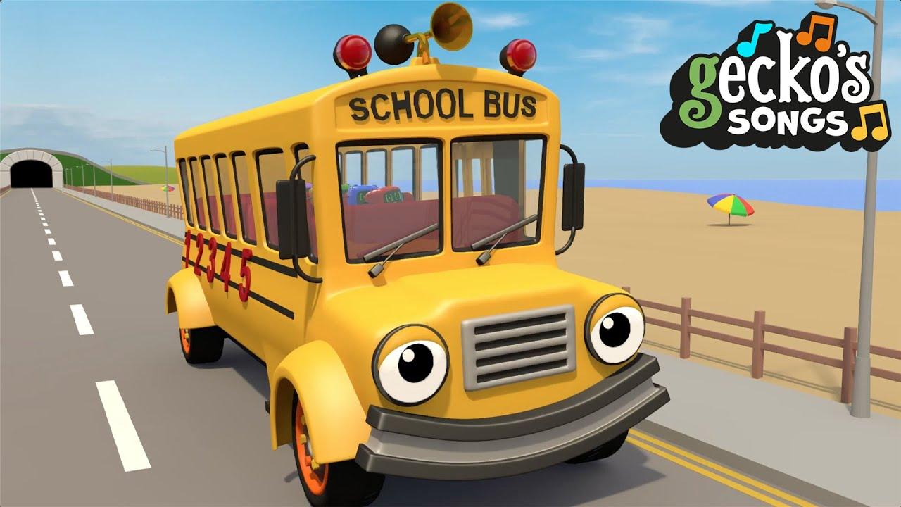 Wheels On The Buses | Nursery Rhymes & Kids Songs | Gecko's Garage | Bus Videos For Kids