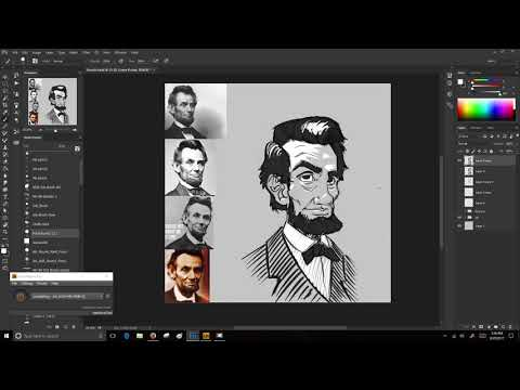 Caricature #2, Abe Lincoln (Timelapse) (No Narration)