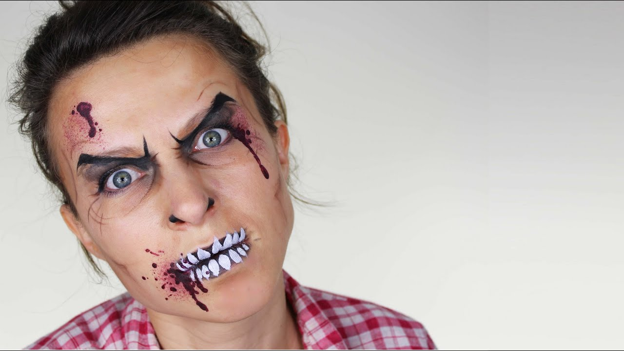 halloween face painting designs zombie