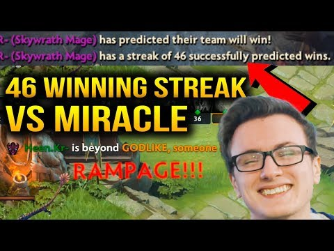 Miracle- OMG Why You put 46 Winning Streak Against Miracle Spectre??? Dota 2