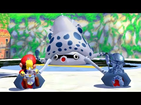 Super Mario Sunshine - All Bosses (2 Player)