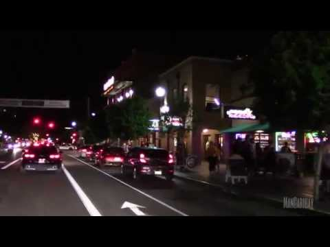 Driving Tour Through Mill Avenue, in Tempe Arizona, Home of ASU