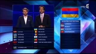 Eurovision 2014 1st Semi-final results + ARAM MP3