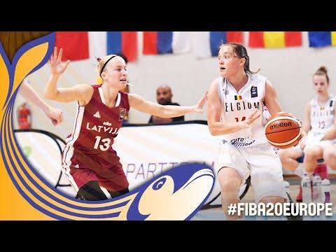 Belgium v Latvia - Full Game - Classification 7-8 - FIBA U20 Women's European Championship 2017