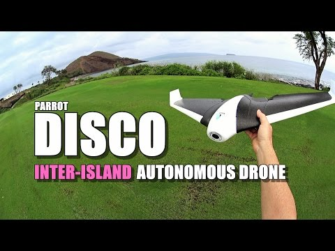 PARROT DISCO - Review - Part 4 - [Inter Island Autonomous Flight! / Battery Mod]