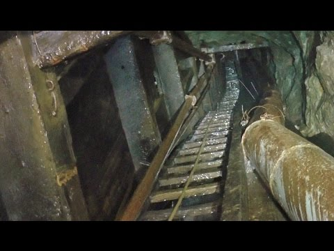 Amazing Underground Waterfalls in a Flooded, Abandoned Mine
