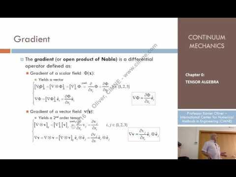 Continuum Mechanics - Ch 0 - Lecture 6 - Differential Operators