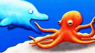 Tasty Blue #7 ОГРОМНЫЙ ДЕЛЬФИН СЪЕЛ РУСАЛКУ Мультяшная игра про Рыбку обжору СЪЕСТЬ ОКЕАН