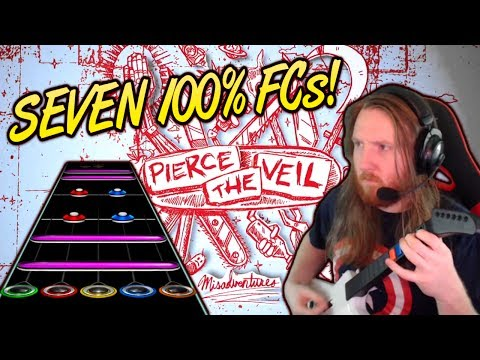 PIERCE THE VEIL - Misadventures MEGAvideo! Seven 100% FCs (Dive In, Texas is Forever, and more!)