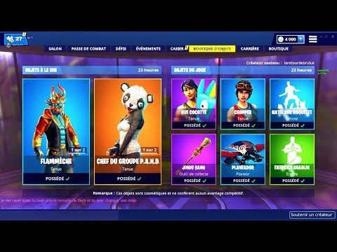 BOUTIQUE FORTNITE du 6 Fevrier 2019 ! ITEM SHOP February 6 2019 !