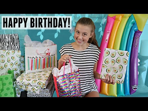 Gabrielle's 15th BIRTHDAY Morning Opening Presents!