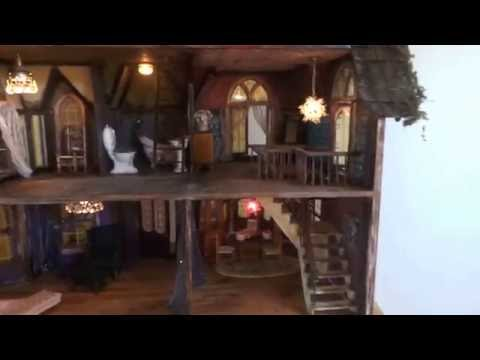 Tour of Abandoned Spooky Miniature Dollhouse