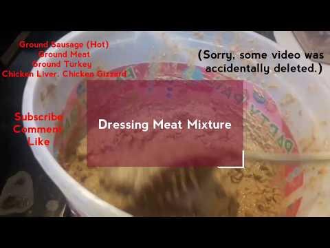 How to cook Louisiana Creole Cajun Dressing Meat Mixture for Dirty Rice ; Cajun Rice Dressing