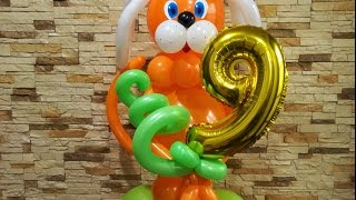 Как сделать собачку из шаров,собака из воздушных шаров/dog of the balls