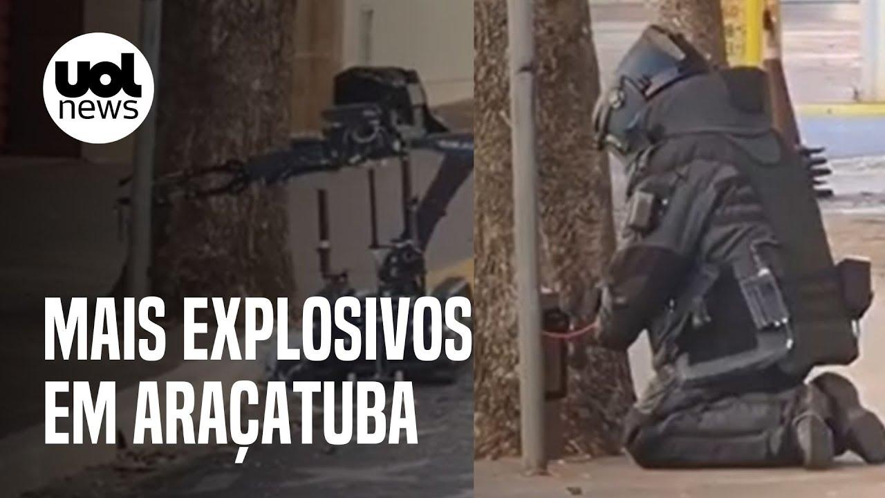 Ataque em Araçatuba: 40 bombas são encontradas após série de assaltos a bancos
